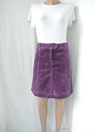 Стильная модная вельветовая юбка h&m. размер uk 10/40 (м,наш 46).