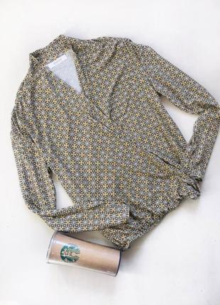 Блуза на запах с длинным рукавом promod