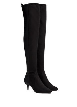 Высокие сапоги чулки, ботфорты 25 см.сапожки bershka  38 р.