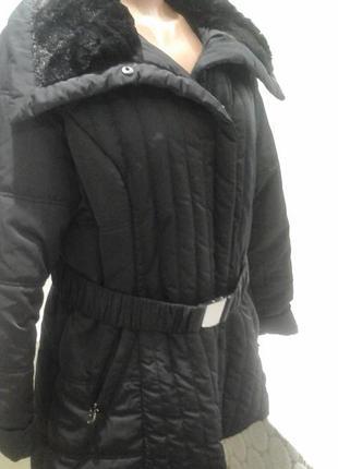 Куртка с воротником из стриженного меха