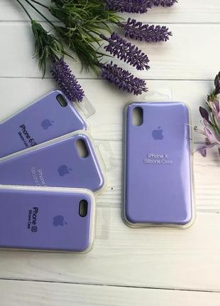 Чехол apple silicone case для iphone 6/6s фиалка