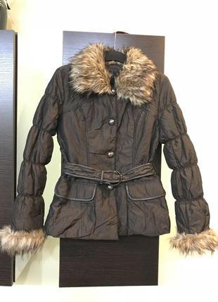 Демисезонная куртка с мехом koan италия