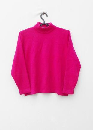Осений зимний  100%  мерино шерсть укороченный свитер свитшот с рукавом 3/4