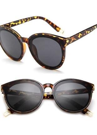 Леопардовые солнцезащитные очки тренд 2018 новинка стильные гранды