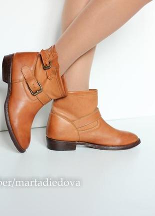 Кожаные итальянские ботинки полусаподки, натуральная кожа, бренд ash, италия  hand made