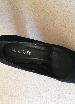 Туфли marinety с красной подошвой