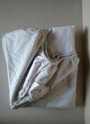 Простынь наматрасник белый 100% хлопок на резинке 130х190х28 см ikea швеция