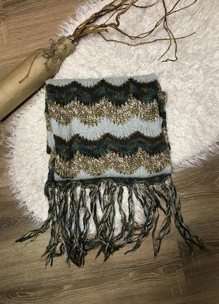 Тёплый длинный шарф от h&m шерстяной шарф
