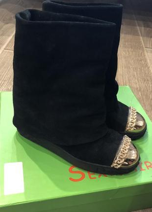 Ботинки casadei осенние натуральный замш