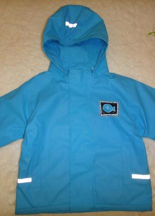 Утепленная демисезонная куртка impidimpi на мальчика р.86-92 (1-3года)