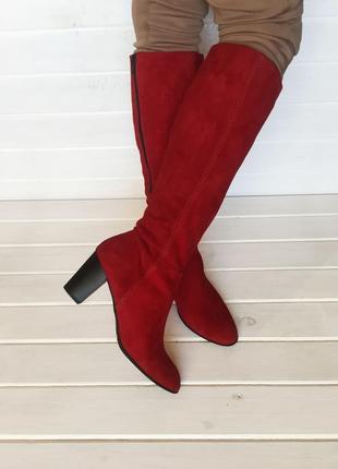 (41 / 26,5 см) осенние сапоги бренда lamica. натуральная замша  № 756