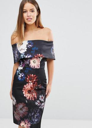 Ліквідація товару до 29 грудня 2018 !!!платье -футляр с цветочным принтом asos
