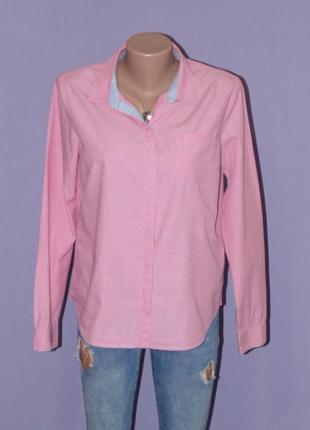 Качественная розовая рубашка от h&m