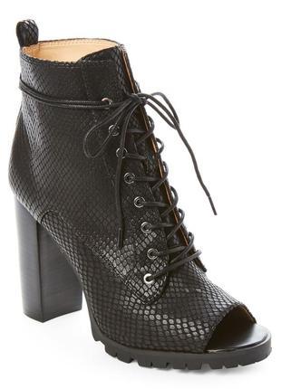 Katy perry оригинал черные ботильоны на шнуровке с открытым носком бренд из сша5
