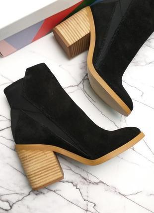 Katy perry оригинал замшевые черные ботильоны на широком каблуке бренд из сша