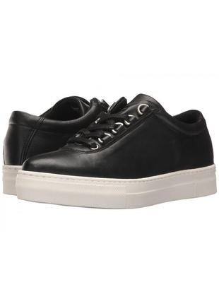 K-swiss оригинал кожаные черные кеды на платформе бренд из сша