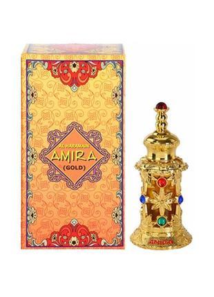 Amira gold, al haramain, оаэ, концентрированные масляные духи без спирта, 12 мл