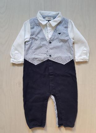Человечек от armani baby на малыша 6-9-12мес