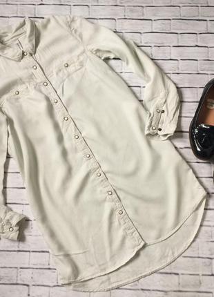 Довга джинсова сорочка