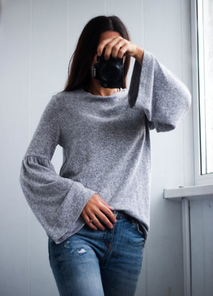 Утеплённая свитер кофта блуза zara
