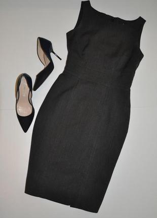 Офисное классическое миди платье h&m