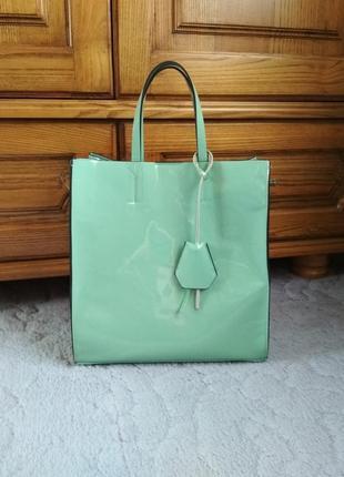 Лаковая сумка эко-кожа, p&e