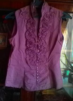 Обалденная кофточка -блуза без рукавов