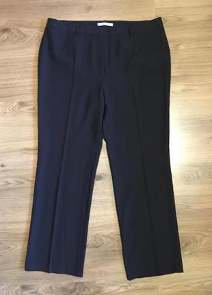 Классические синие брюки прямого кроя!!