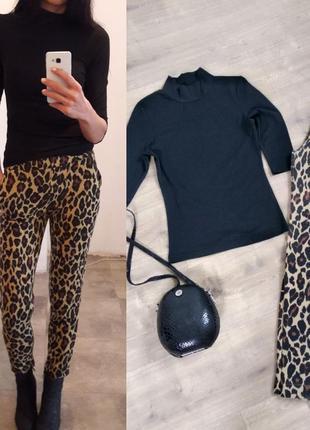 Стильные леопардовые брюки
