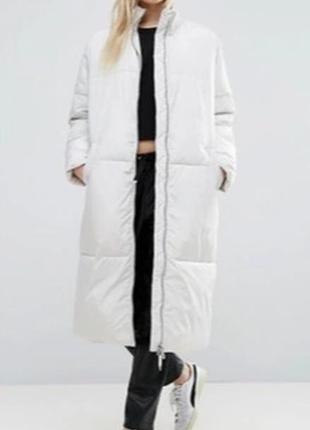 Пуховик длинный adpt одеяло oversize
