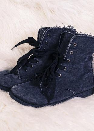 Милитари ботинки на шнуровке new look