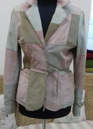 Кожаная куртка, размер 36