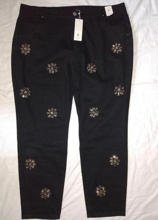 Шикарные джинсы с камнями,р-р uk 24,евро 52,на высокий рост,lost ink curve2