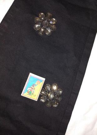 Шикарные джинсы с камнями,р-р uk 24,евро 52,на высокий рост,lost ink curve5