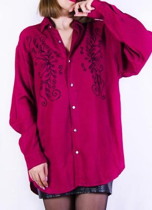Объемная рубашка с вышивкой marks & spencer