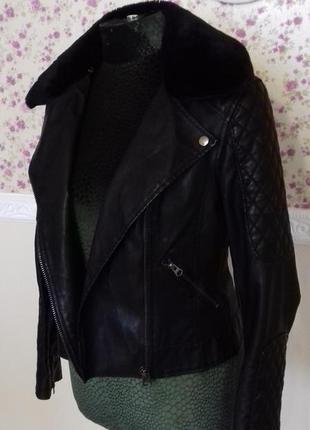 Куртка косуха.эко кожа.искусственный мех