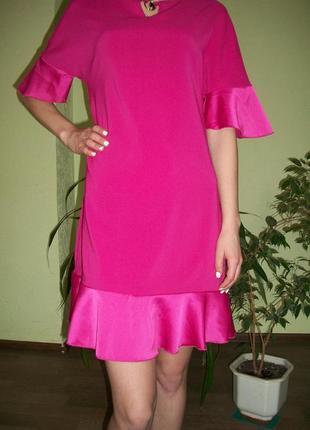 Брендовое розовое платье. италия rinascimento1