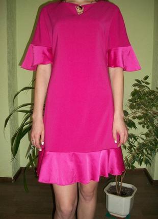 Брендовое розовое платье. италия rinascimento3