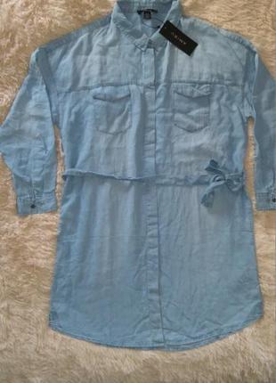 Джинсовое платье-рубашка amisu