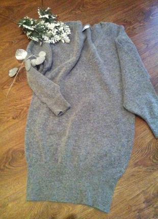 Шикарне ангорове плаття- туніка більшого розміру1