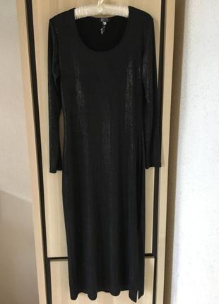 Платье миди блестящее вечернее нарядное