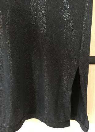 Платье миди блестящее вечернее нарядное2