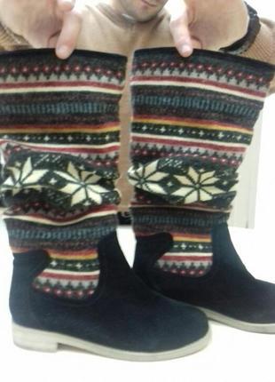 Кожаные  сапоги, 35-36 размера1