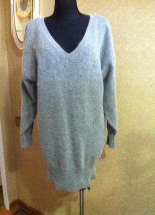 Шикарне ангорове плаття- туніка більшого розміру4