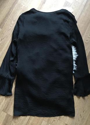 Стильное сатиновое платье с воланами4