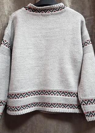 Серый вязанный свитер tu s,новый теплый уютный свитерок xs-s5