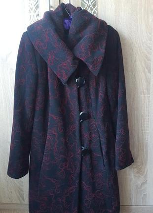 Теплое пальто асиметричного кроя5