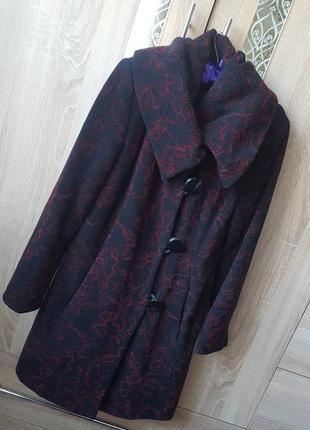 Теплое пальто асиметричного кроя1