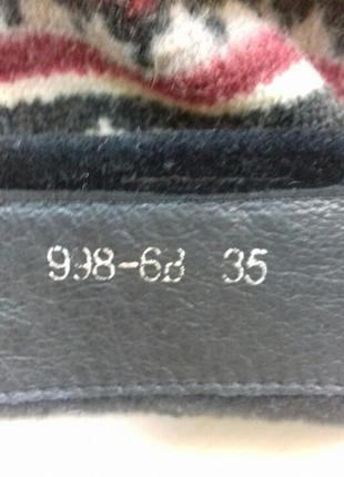 Кожаные  сапоги, 35-36 размера4