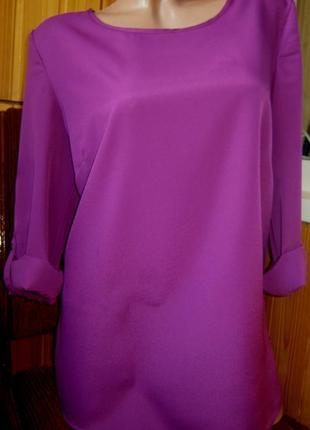 Распродажа блузка оверсайз из струящегося крепа tchibo, германия - р. 48-50 укр.3